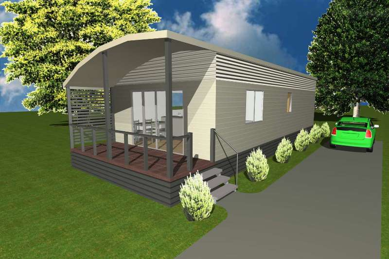1. Hibiscus - Shown with Optional Roofline & Cladding Features