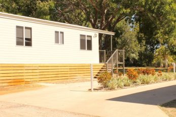 Katherine NT, 2 x Camellia (Amended) Design Cabins   External Side View