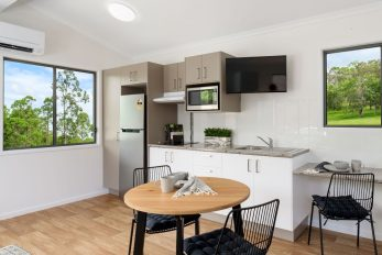 Gympie QLD Display, Kennedia (Amended) Design Cabin   Kitchen & Dining