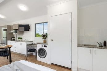 Gympie QLD Display, Kennedia (Amended) Design Cabin   Kitchen & Laundry